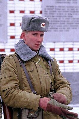 ☆ ORIGINAL CCCP SOLDATEN-SCHAPKA USCHANKA SOWJETARMEE Shapka Ushanka Wintermütze