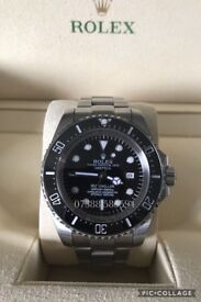Rolex deepsea dweller luxury automatic divers watch brand new in Swiss wave box black dial