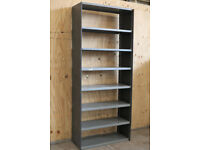28 Bays Metal 2.2m 7ft 3in Solid Steel Heavy Duty Warehouse Industrial Shelving
