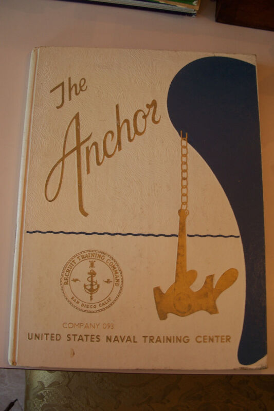Military Yearbook The Anchor Navy Company 093 San Diego California CA 76-093