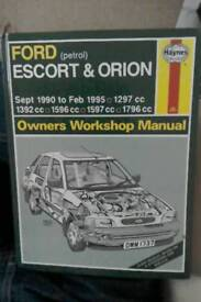 Ford Escort & Orion Haynes manual for cars 1990-1995