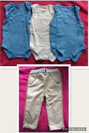 Boys Trousers & Vests 12-18 Months