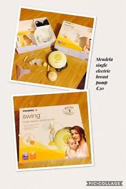 Mendela single swing electric breast pump