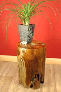 Tavolino porta fiori teak radica albero tronco albero for Tronco albero arredamento