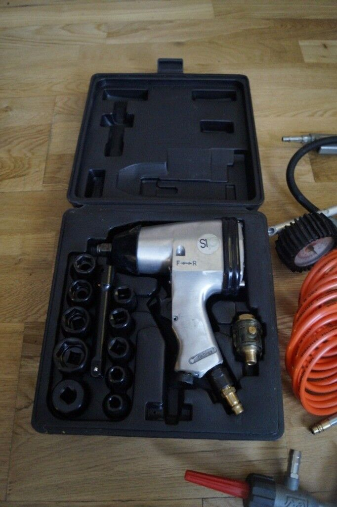 a3021e8ebda Tool sip air impact wrench kit NEW plus extra accessories