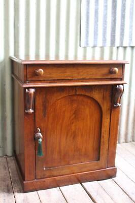 A Victorian Cedar Bureau Desk Davenport - Bedside Cabinet - Sideboard - Cupboard