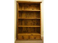 Solid wood bookcase/bookshelf.