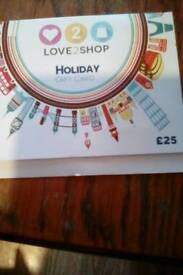 £25 Love 2 shop HOLIDAY gift card