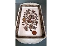 ridgway ironstone jacobean platter