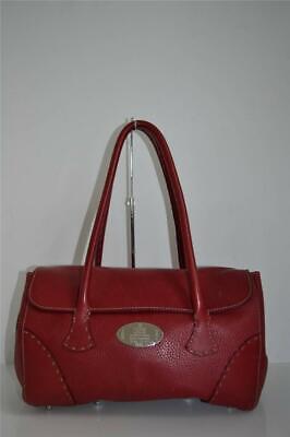 Fendi Selleria Red Pebbled Leather Tote/Shoulder Bag/Handbag/Purse