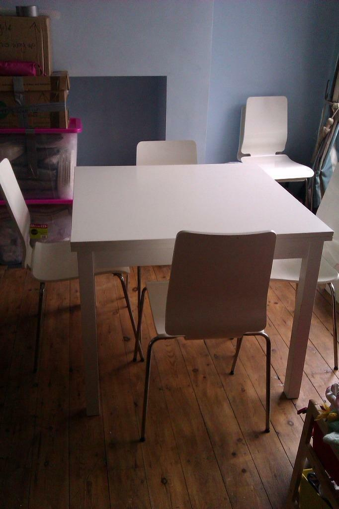 White extending dining table and 4 Buy sale and trade ads : 86 from dealry.co.uk size 682 x 1024 jpeg 60kB