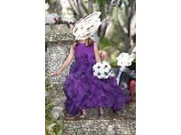 Purple bridesmaid dress age7