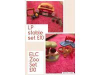Little People stable playset ELC zoo playset