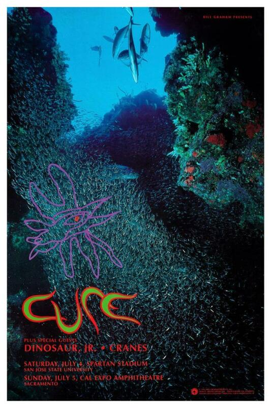 the Cure - POSTER - Dinosaur Jr  - LIVE SF CONCERT -  AMAZING Wall Art Print