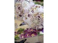 Beautiful vintage silk wedding flowers