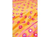 Stole Dupatta Phulkari Scarf Direct from Artisans Handwoven Embroidered, Chanderi Silk Large
