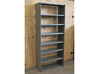 63 Bays Metal 2.2m 7ft 3in Solid Steel Heavy Duty Warehouse Industrial Shelving
