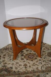 Charming Honey Oak Round Accent Table