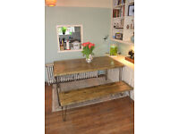 Industrial Kitchen Table and Bench Mid Century Style hairpin -We Can Deliver