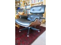 Charles Eames style chair and ottoman