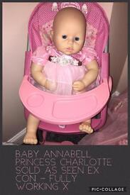 Baby Annabell limited ed Charlotte doll only