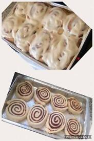 American Cinnamon Buns freshly baked