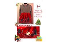 Peppa pig dress 5-6 years 🌟 worn once 🌟