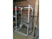 Powerline power cage, barbell and weights/Multigym