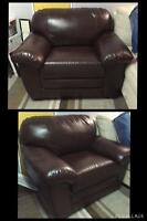Faux leather chair $150 OBO