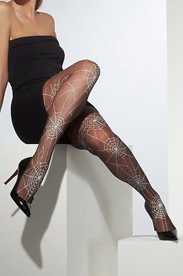 Black Tights with Spiderweb Design Witch Sexy Halloween Fancy Dress Accessory](Halloween Costumes With Tight Black Dress)