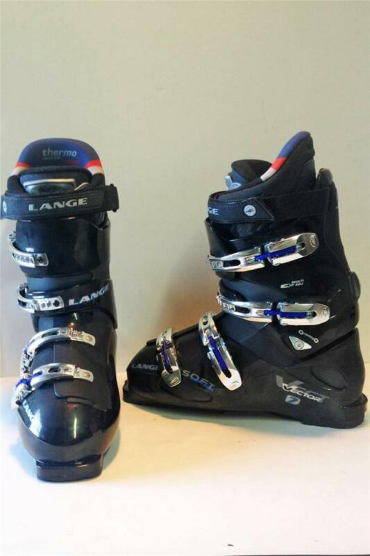 Lange Vector 7 Mens Snow Ski Boots Metalic Black Size 11 Mondo 29 NEW