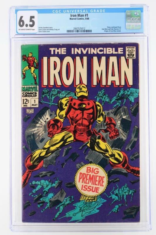 Iron Man #1 - CGC 6.5 FN+ Marvel 1968 - ORIGIN of Iron Man!