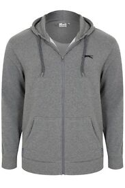 Brand New!! *2 piece Men's Slazenger Full Zipped Grey Hoodie & Joggers ,Labels attached.