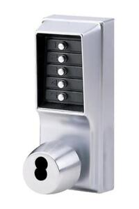 New Kaba Simplex 1000 Series Combination Entry Cylindrical Mechanical Pushbutton Lock with Knob, Key Override, Cylindric