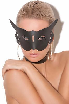 Leather Cat Mask Costume Accessory Kitten Kitty Masquerade L9156