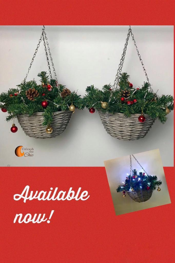 Christmas Hanging Baskets.Christmas Hanging Baskets In Bridgwater Somerset Gumtree