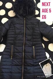 Girls Next age 5 warm coat