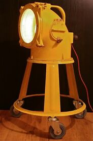 Very old air force lamp from CCCP Tripod lamp Vintage Military lamp Navy Industrial lamp