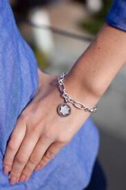 Monrblanc Silver oval star chain bracelet