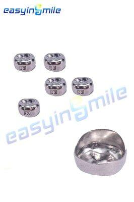 1 Box Easyinsmile Dental Kids Upper Molar Right Crown Stainless Steel Temporary