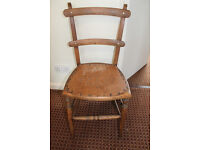 Edwardian occasional beechwood chair
