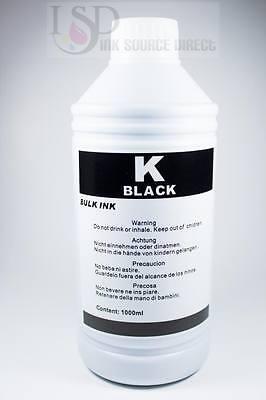 1 Liter Black Bulk Refill Ink For Hp Ink Jet Printer