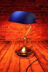 A Vintage Art Deco Style Reproduction Desk Table Lamp, Postage available worldwide.