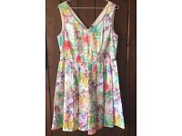 Floral Benetton dress. Worn once only!