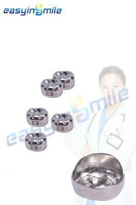 Easyinsmile Dental Crown For Kid Lower Premolar Right Teeth Stainless Steel Caps