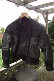 akito leather motorcycle jacket size 40