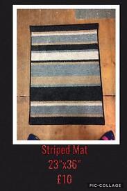 Striped mat