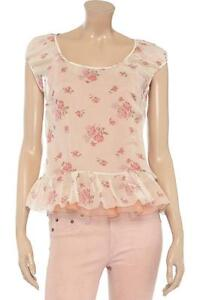RED VALENTINO FLORAL PRINTED SILK CHIFFON BLOUSE!!! BNWT..