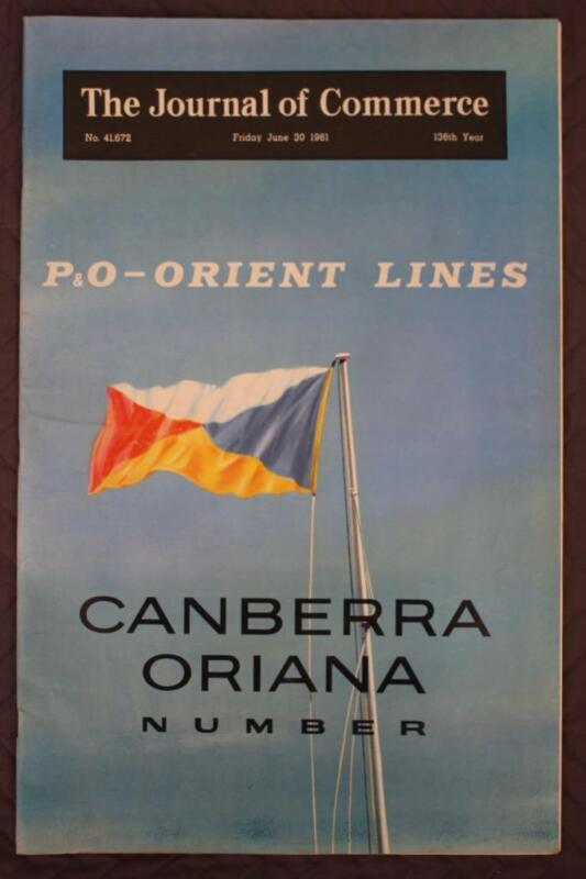 P&O ORIENT LINE SS CANBERRA & ORIANA SPECIAL EDITION DELUX MAGAZINE 1961