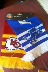 Official NFL matchday scarf Detroit lions vs Kansas City Cheifs
